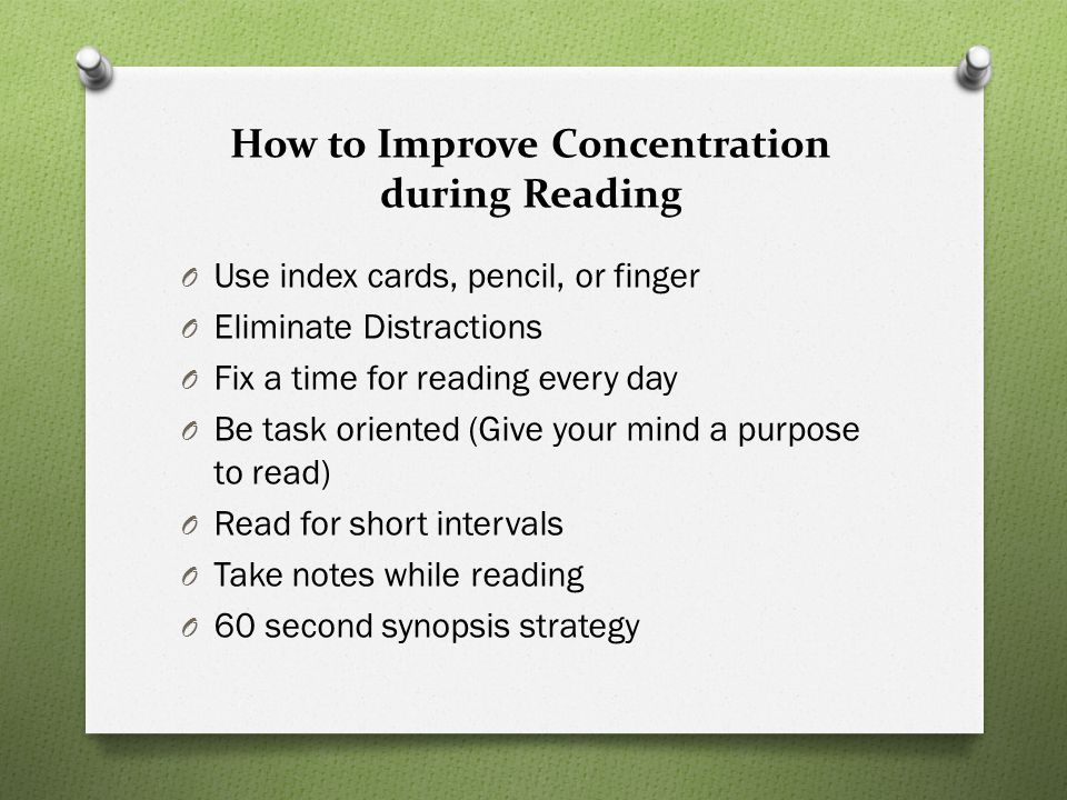 How to Improve Concentration during Reading