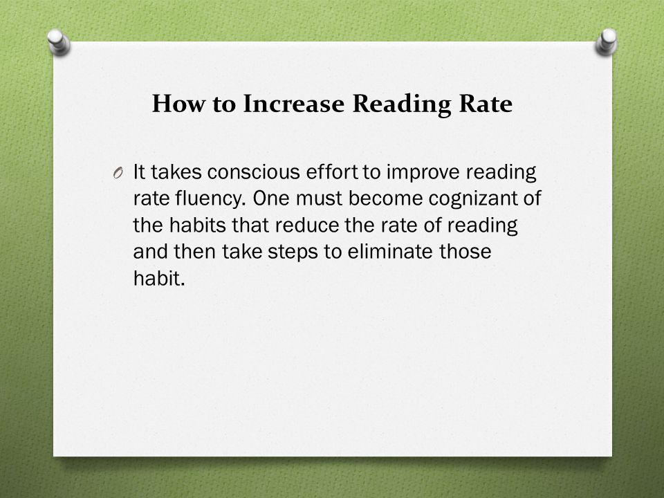 How to Increase Reading Rate