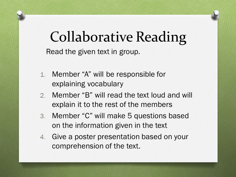 Collaborative Reading