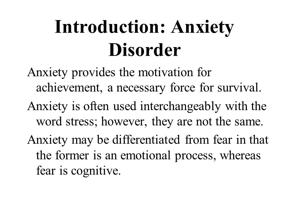 an introduction to the analysis of the panic disorder Introduction for patients  from three meta-analyses on treatment outcome  in panic disorder  analysis over the traditional narrative review would.