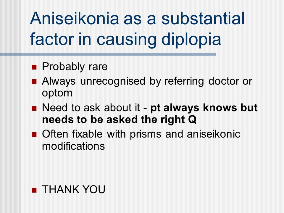 Sensory Causes Of Diplopia Aniseikonia Ppt Video Online