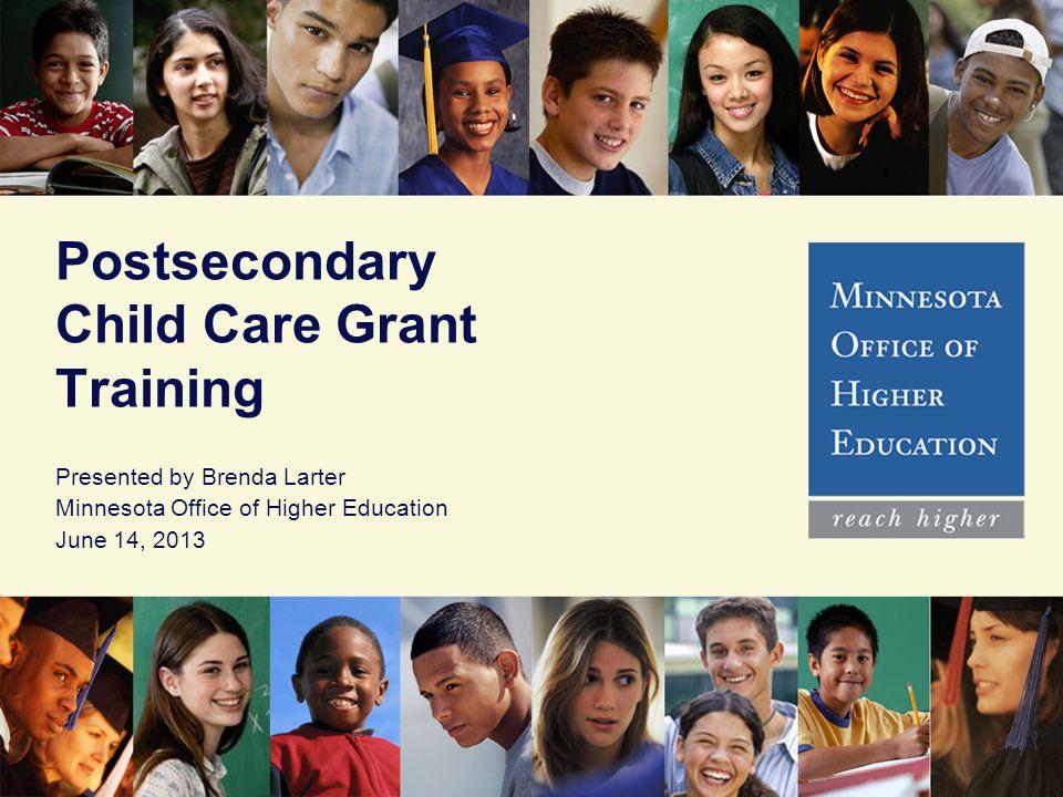 Postsecondary Child Care Grant Training