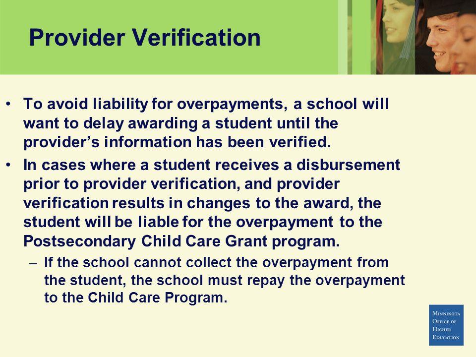 Provider Verification