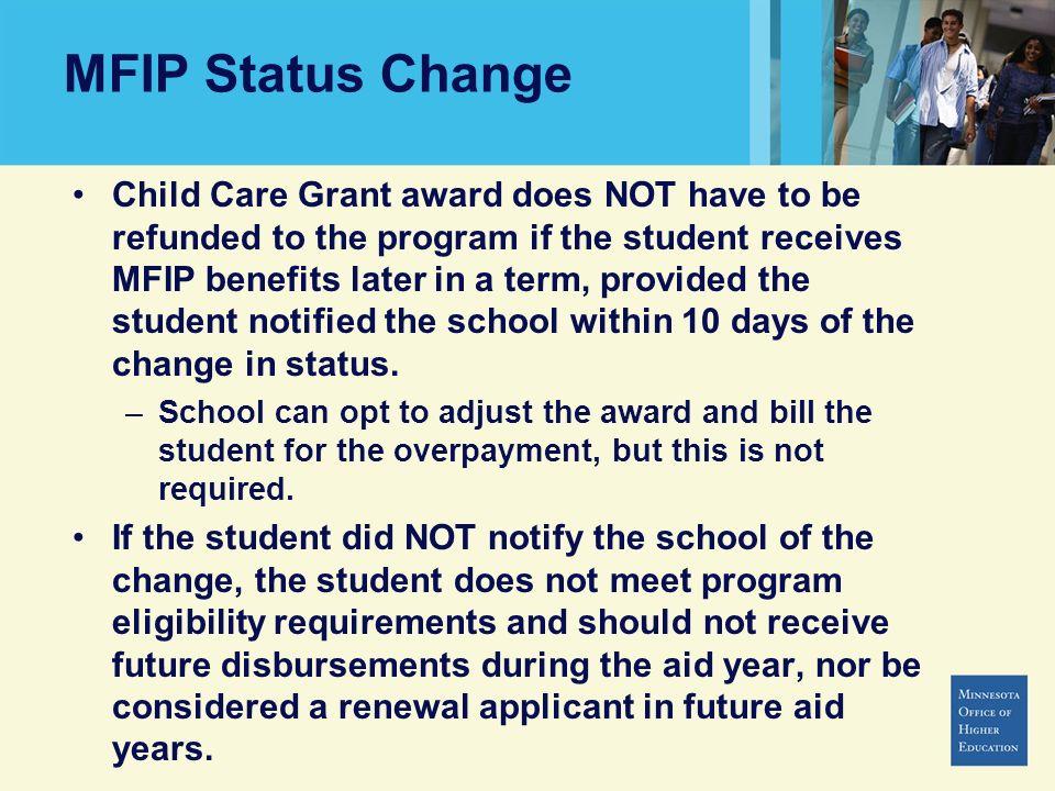 MFIP Status Change