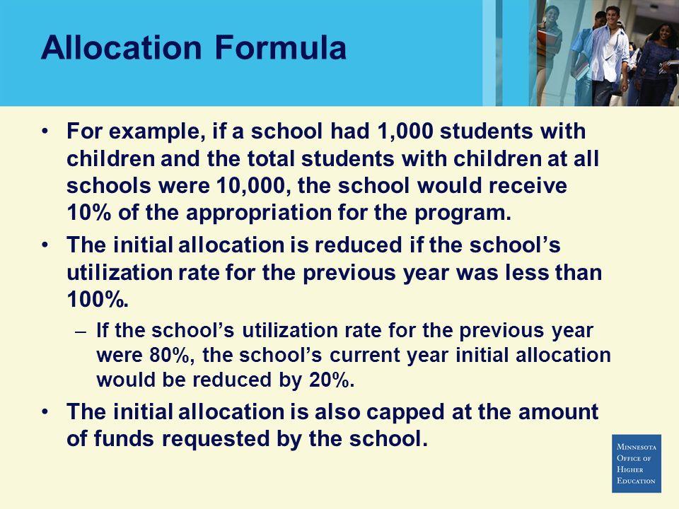 Allocation Formula