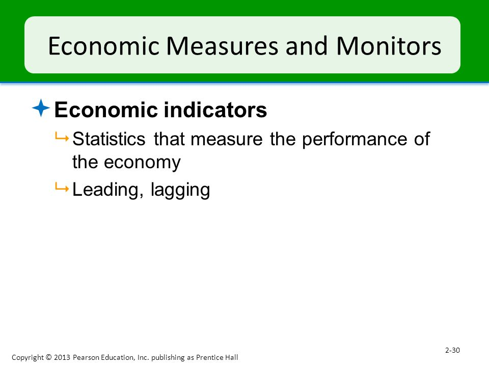 Economic Measures and Monitors