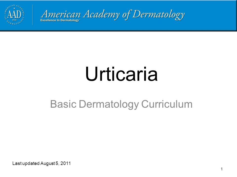 Basic Dermatology Curriculum