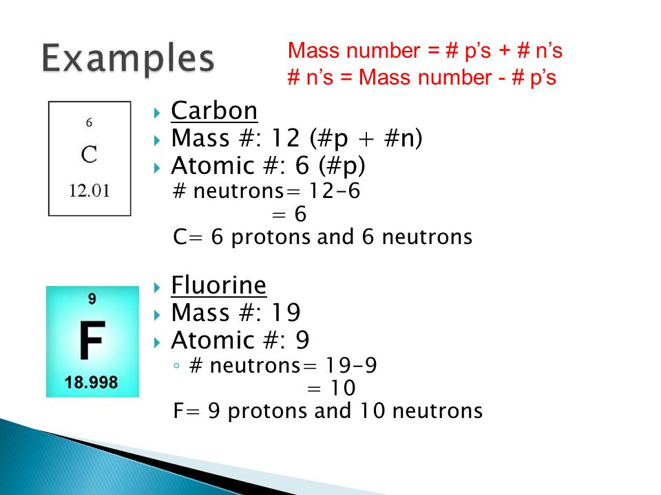 Ch 17 properties of atoms and the periodic table ppt video examples carbon mass 12 p n atomic urtaz Image collections