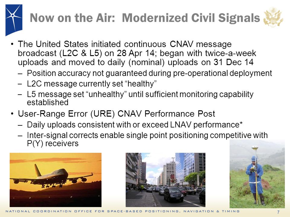 Now on the Air: Modernized Civil Signals