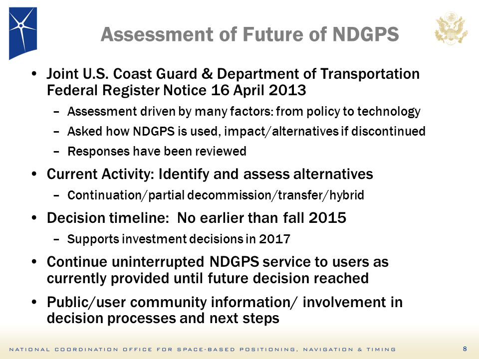 Assessment of Future of NDGPS