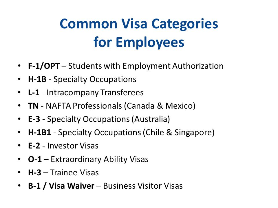 F Category Visa Fundamentals of Nonimm...