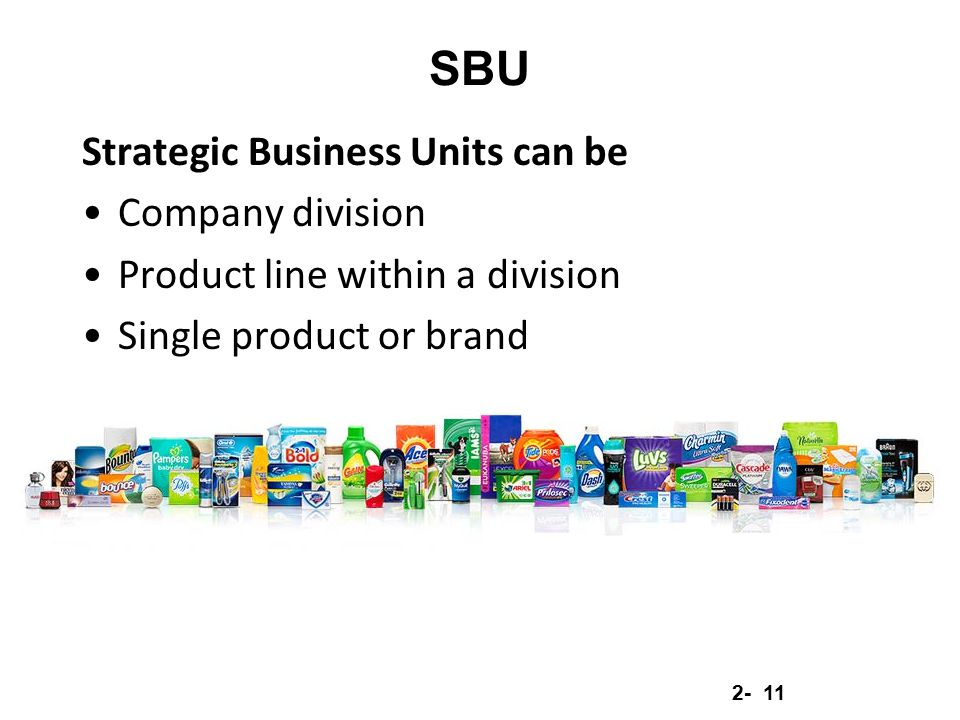 SBU Strategic Business Units can be Company division