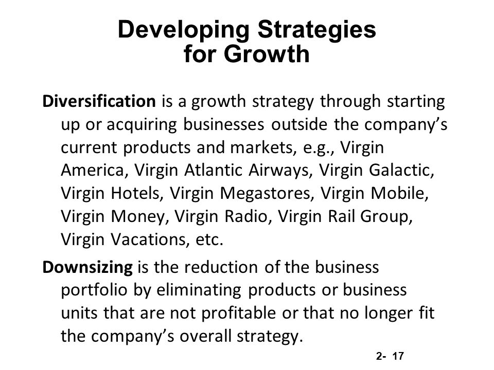 Developing Strategies for Growth
