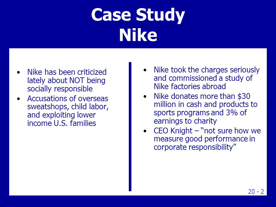 human resources case study nike
