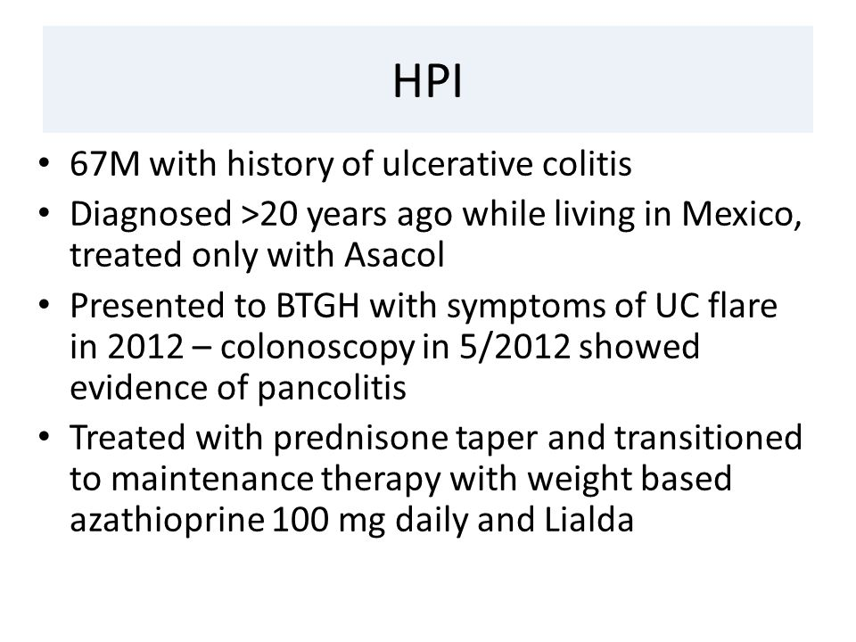 Mesalamine has generally been established as a safe first-line treatment  for ulcerative colitis