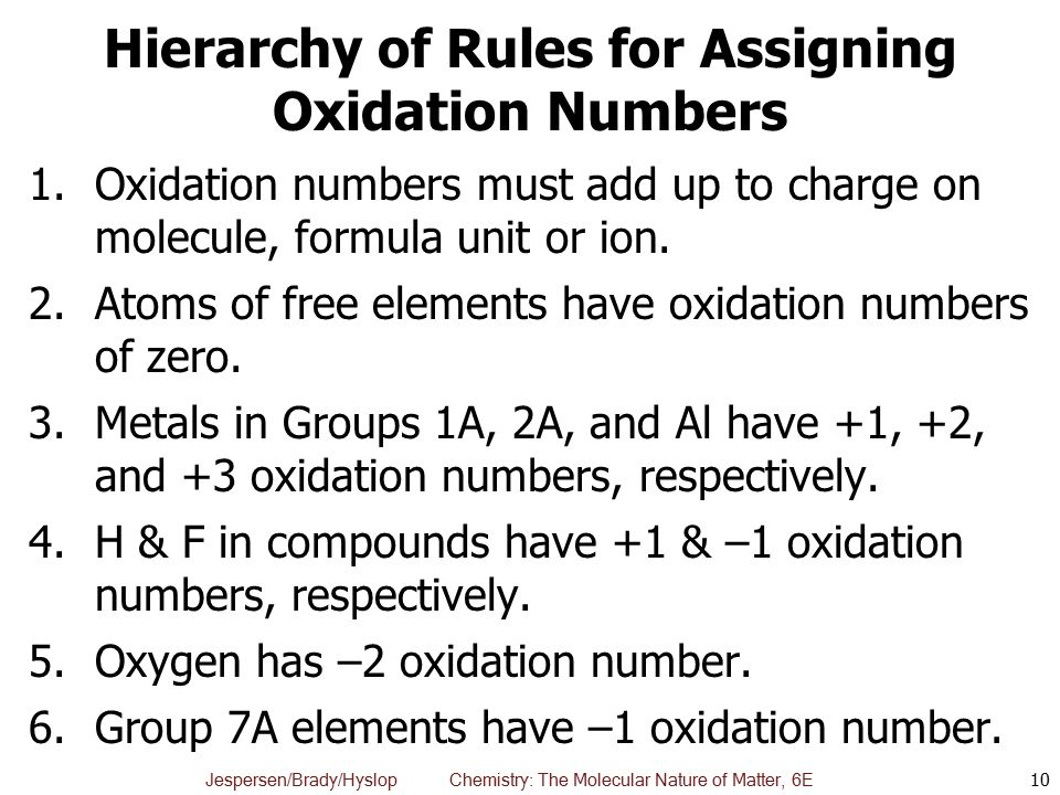 chapter 6  oxidation-reduction reactions