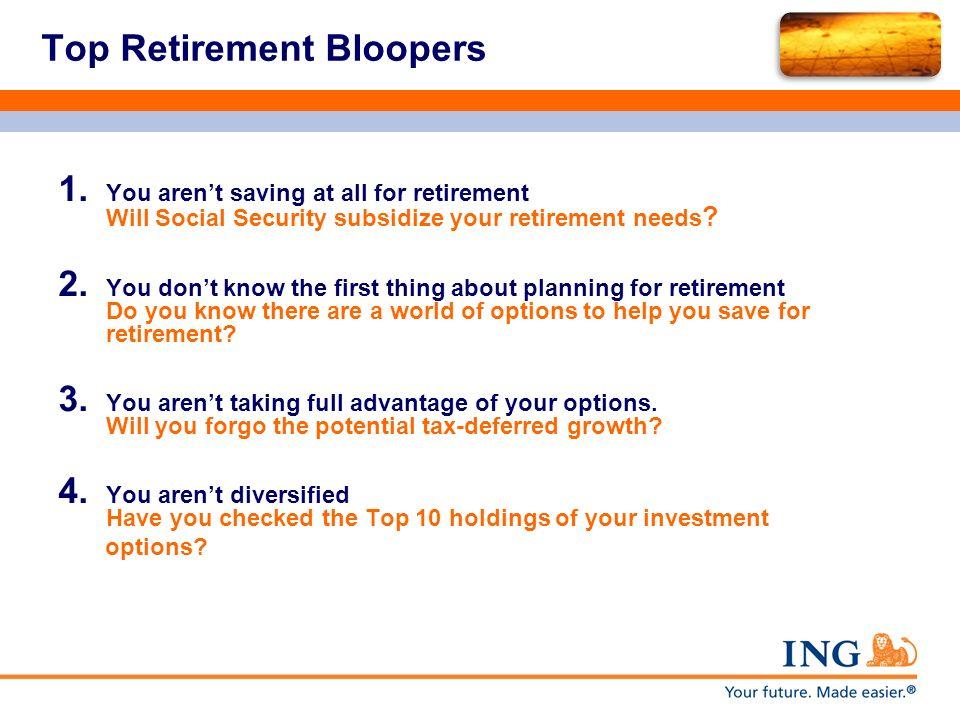 Top Retirement Bloopers