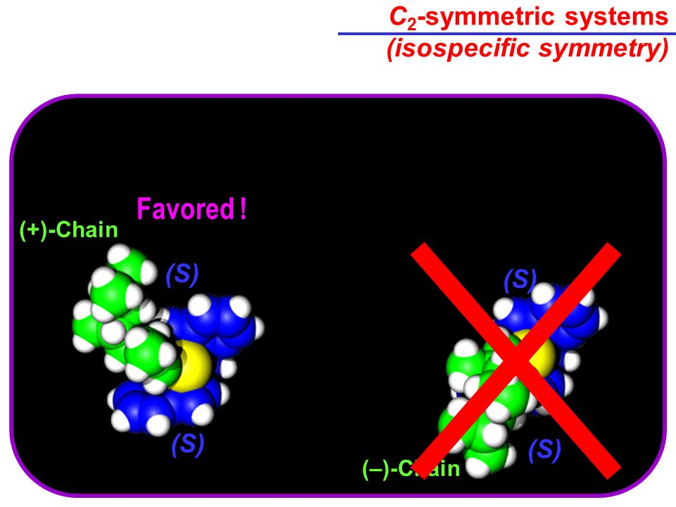 C2-symmetric systems (isospecific symmetry)