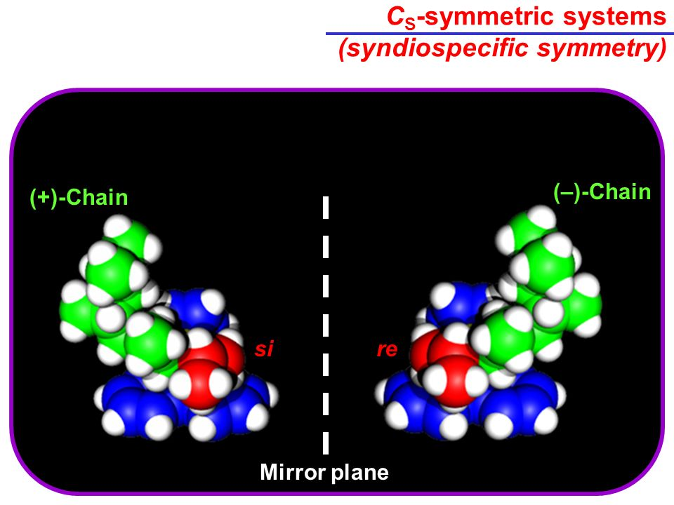 CS-symmetric systems (syndiospecific symmetry)