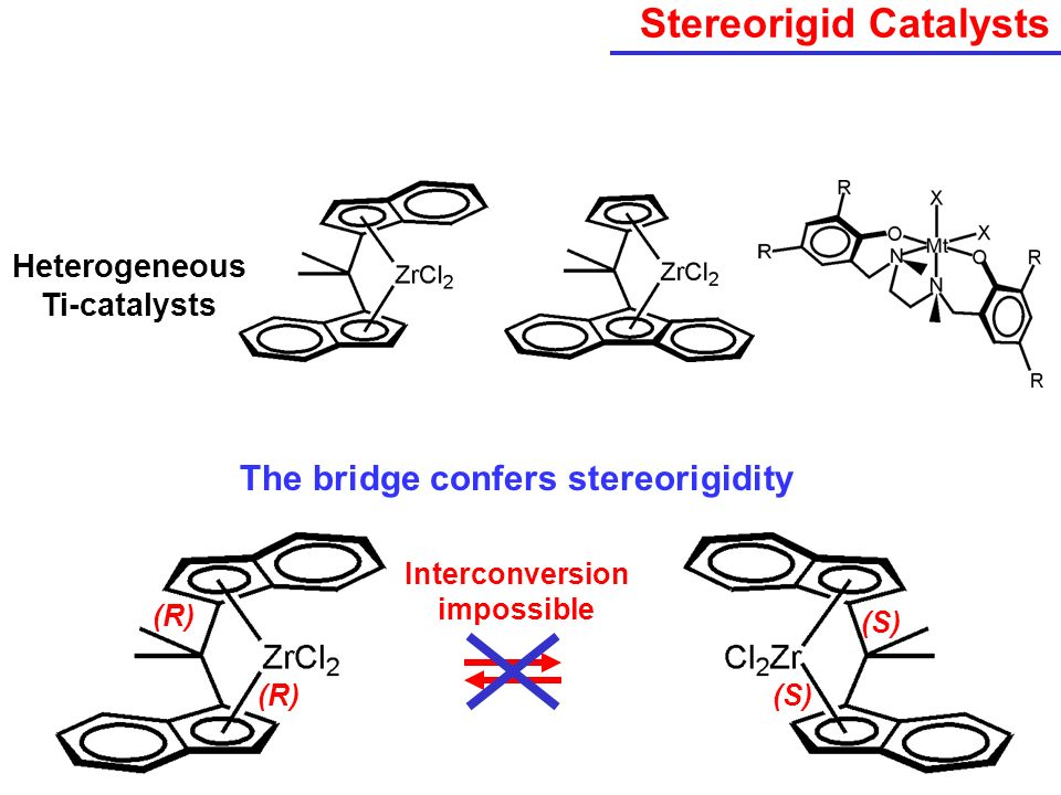 Stereorigid Catalysts