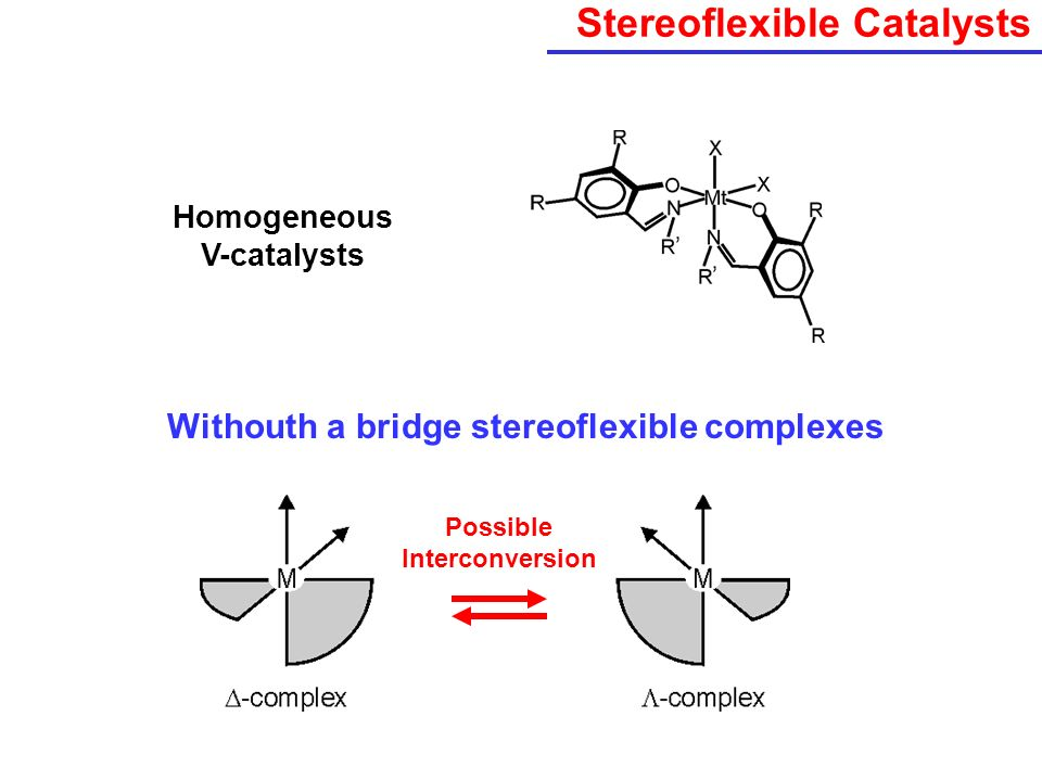 Stereoflexible Catalysts