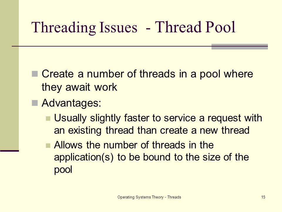 Threading Issues - Thread Pool