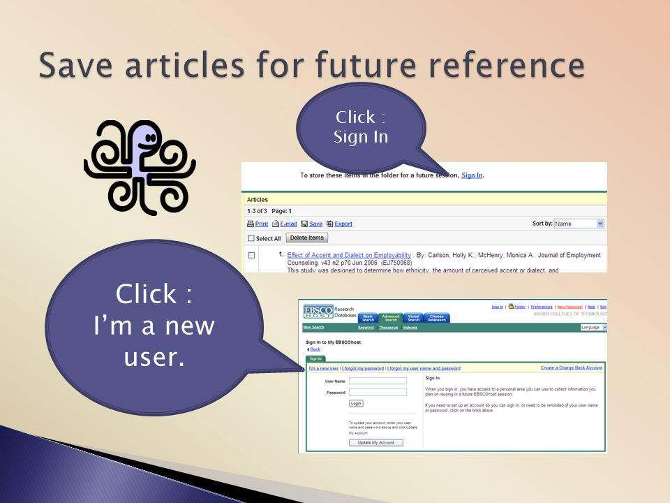Save articles for future reference