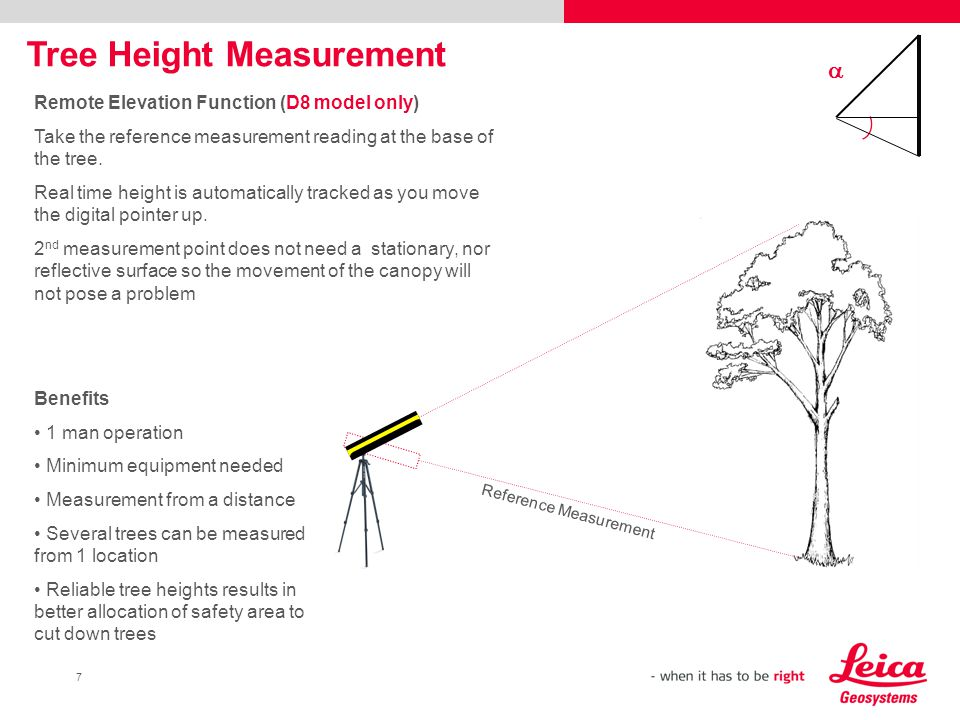 Leica DISTOTM D Solutions For Forestry And Agriculture Ppt - Elevation measurement