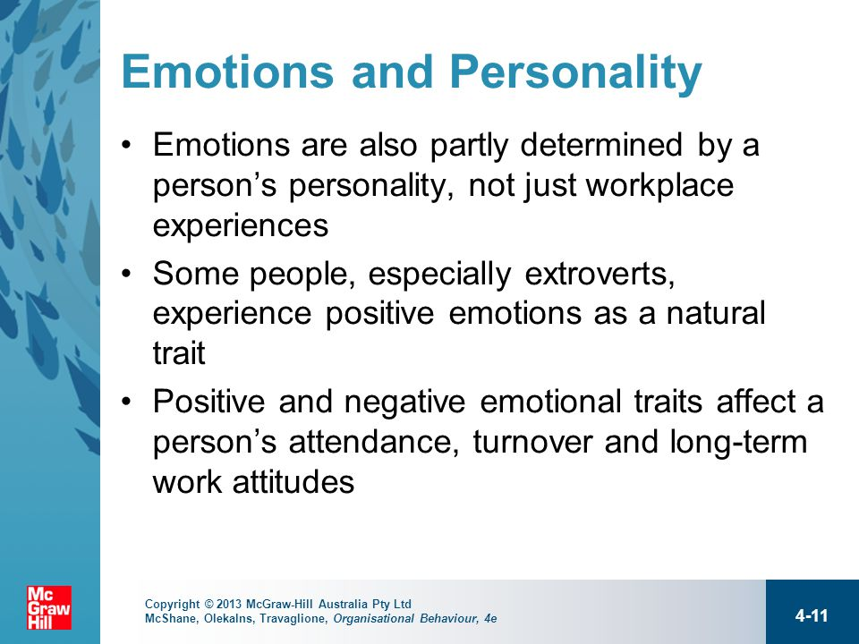 the affects of emotions on job Emotions in the workplace are essential indications of a positive or negative job environment positive emotions can increase worker motivation and.