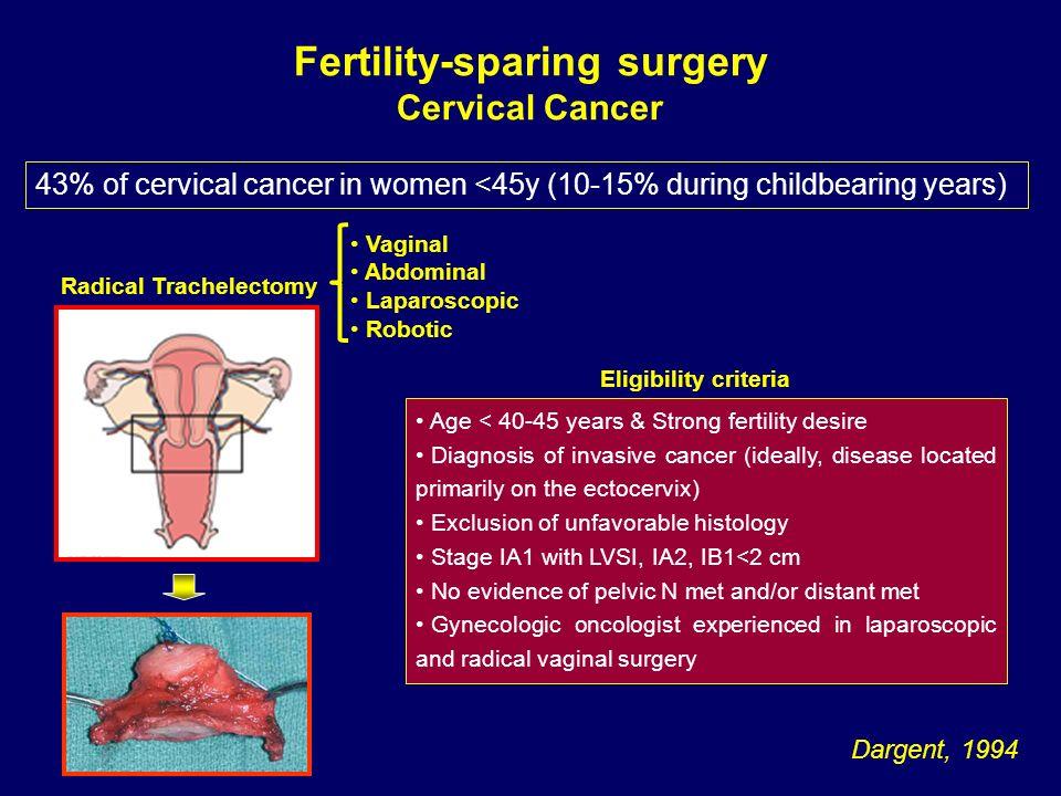 Fertility-sparing surgery