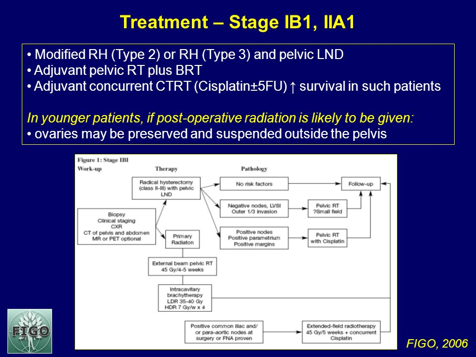 Treatment – Stage IB1, IIA1