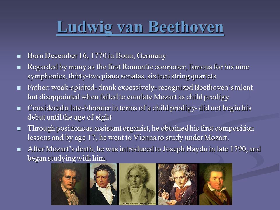 beethovens talent Beethoven's trials began at a very young age though his extraordinary talents were recognized early, beethoven's father, johann, was a far less positive influence on his development than mozart's father leopold johann van beethoven may have been an accomplished musician, with a responsible position at the court in.