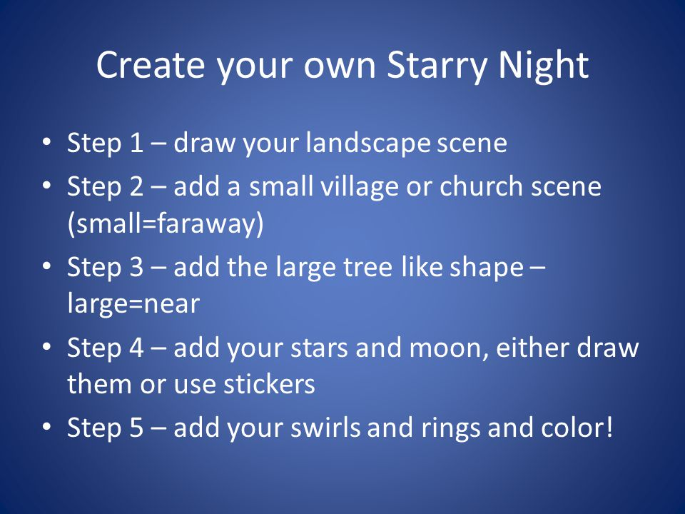 Create your own Starry Night