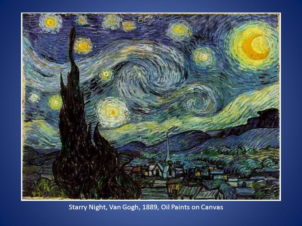 Starry Night, Van Gogh, 1889, Oil Paints on Canvas
