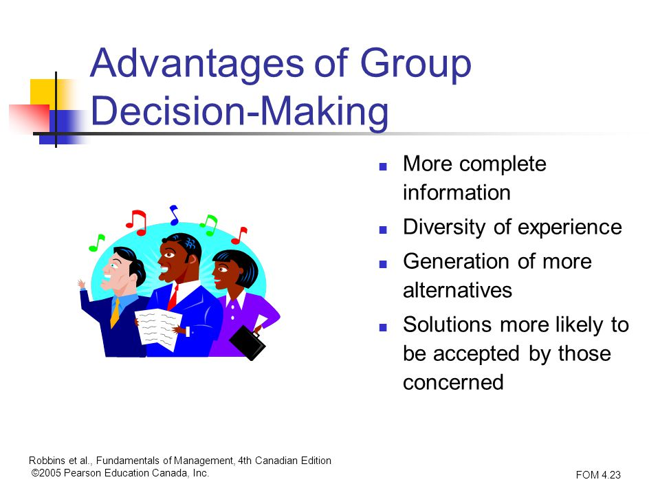 advantages of group decision making essay Assignment papers-what are the advantages and disadvantages of group decision making what are the advantages and disadvantages of group decision making intuition is both an emotional experience and an unconscious analytic process.