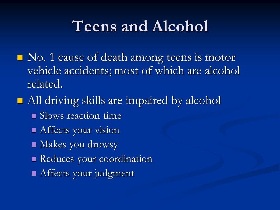 "causes of teen drinking ""motor vehicle-related injury has become the leading cause of death in the  "" the total cost of underage drinking is $58 billion annually"" (nation's health: 1  feb."