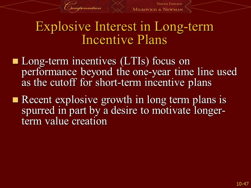 Pay for performance plans ppt video online download for Long term incentive plan design