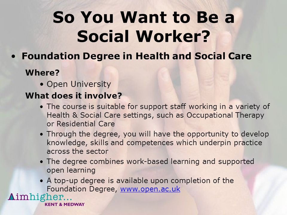 how to get a degree in social work