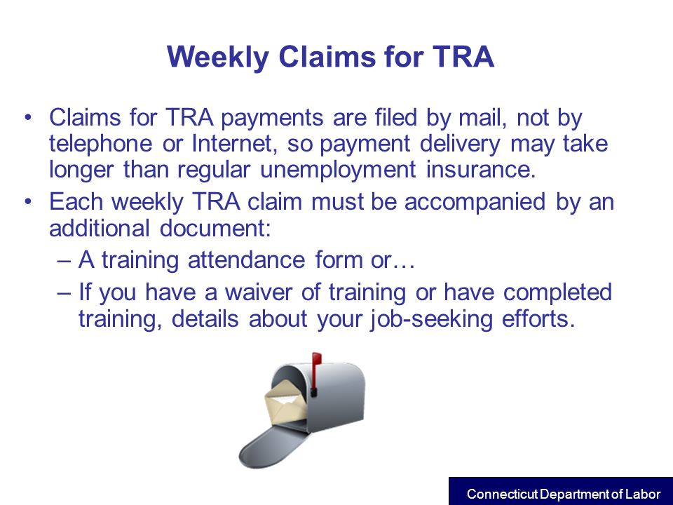Weekly Claims for TRA