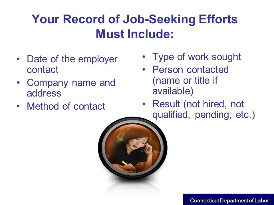 Your Record of Job-Seeking Efforts Must Include: