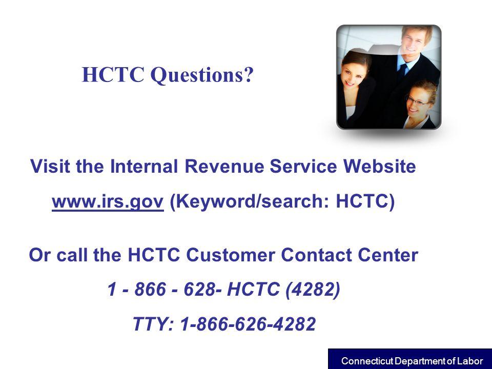 HCTC Questions Visit the Internal Revenue Service Website