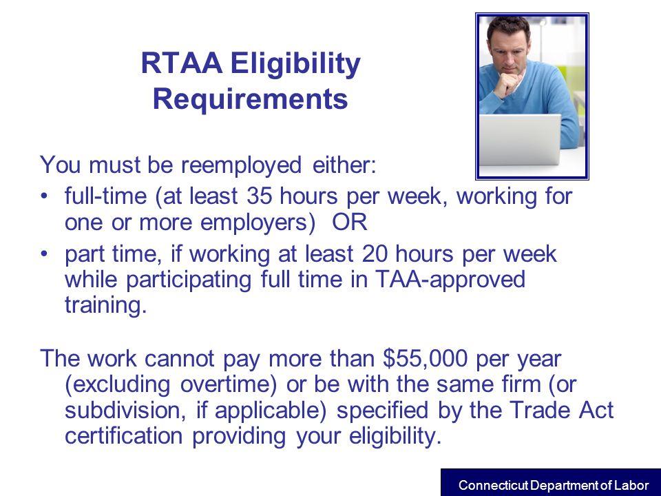 RTAA Eligibility Requirements