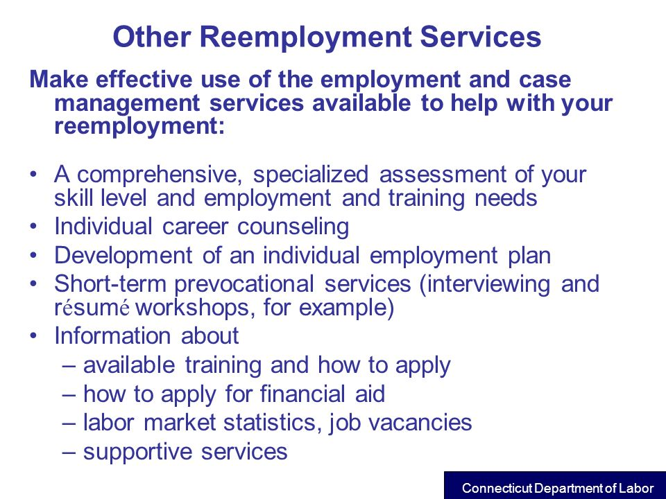 Other Reemployment Services