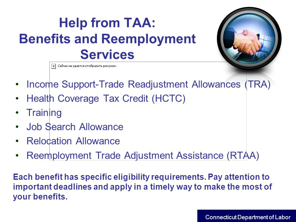 Help from TAA: Benefits and Reemployment Services