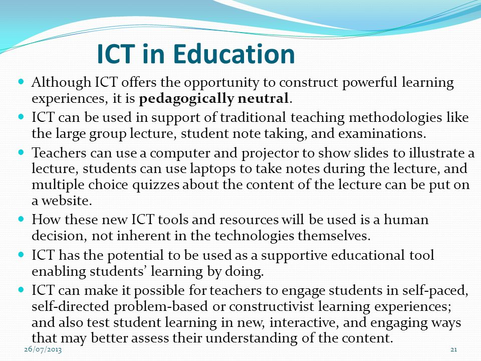how to effectively use ict in authentic learning