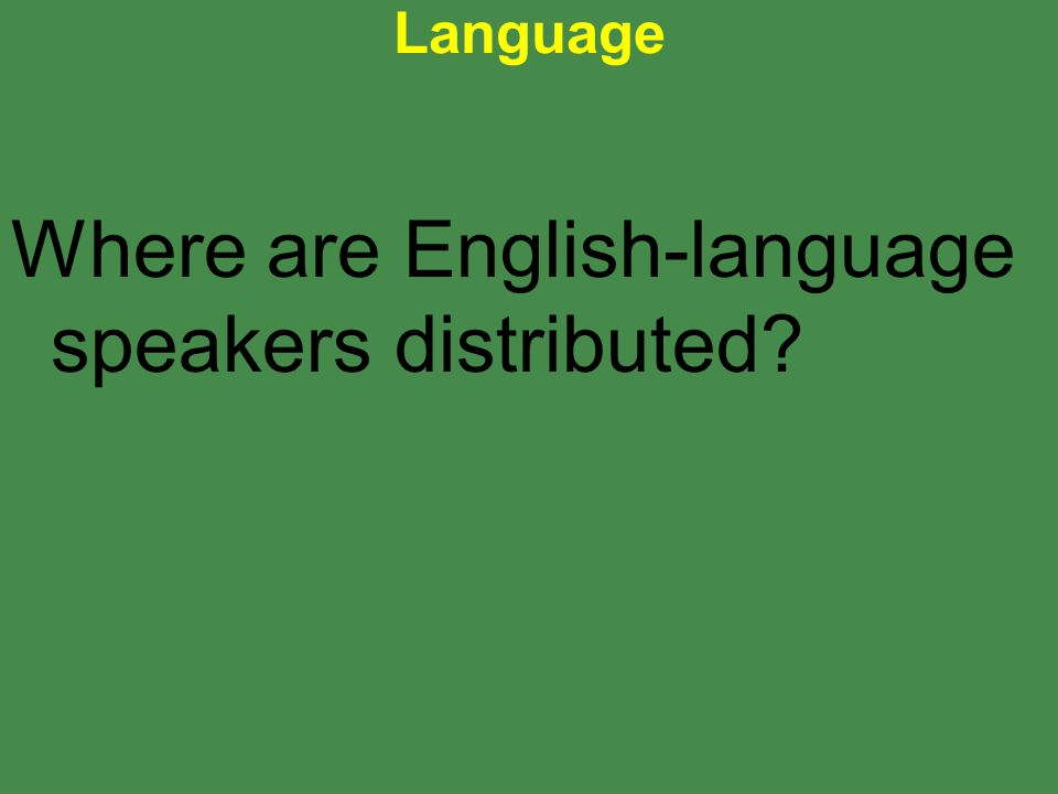 Where are English-language speakers distributed