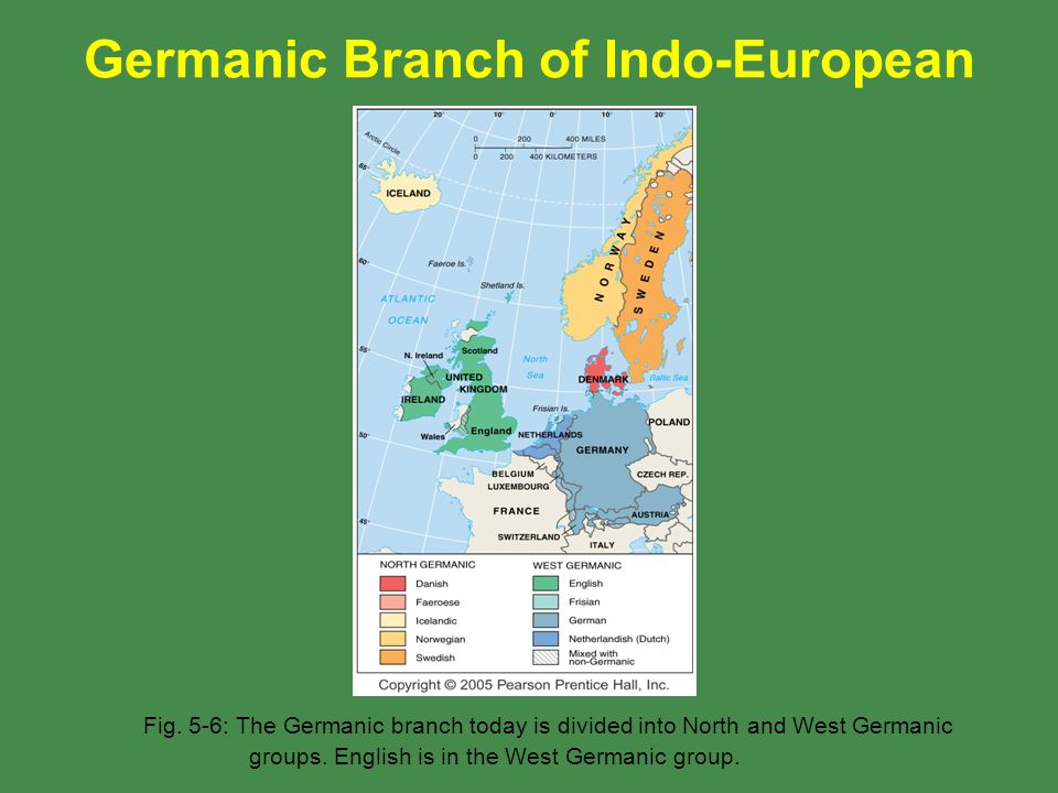 Germanic Branch of Indo-European