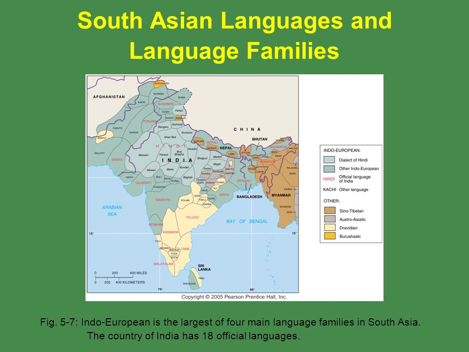South Asian Languages and Language Families