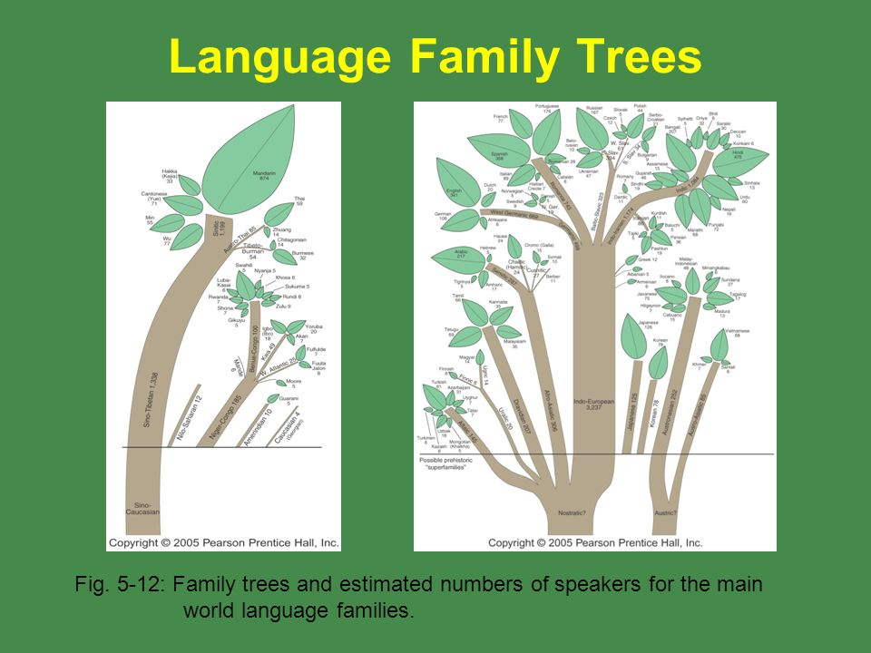Language Family Trees Fig.