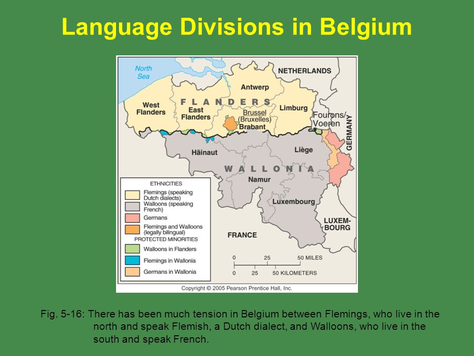 Language Divisions in Belgium